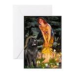 Fairies & Newfoundland Greeting Cards (Pk of 20)