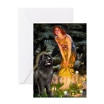 Fairies & Newfoundland Greeting Card