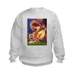 Mandolin Angel / Yorkie (17) Kids Sweatshirt
