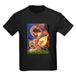 Mandolin Angel / Yorkie (17) Kids Dark T-Shirt
