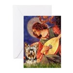 Mandolin Angel / Yorkie (17) Greeting Cards (Pk of