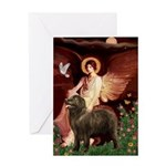 Angel & Newfoundland (B2S) Greeting Card