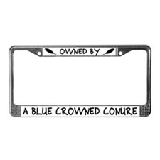 Owned by a Blue Crowned Conure License Plate Frame