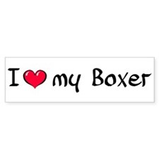 I Love my Boxer Bumper Bumper Sticker