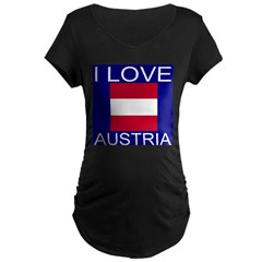 I Love Austria Maternity Dark T-Shirt