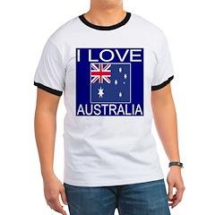 I Love Australia Ringer T