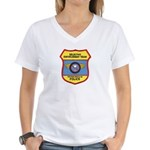 VA Beach Selective Enforcemen Women's V-Neck T-Shi