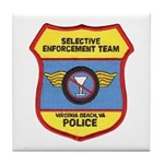VA Beach Selective Enforcemen Tile Coaster