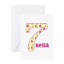 7th Birthday Pesonalized Greeting Card