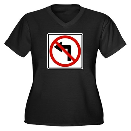 No Left Women's Plus Size V-Neck Dark T-Shirt