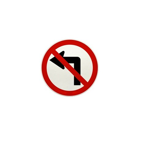 No Left Mini Button (100 pack)