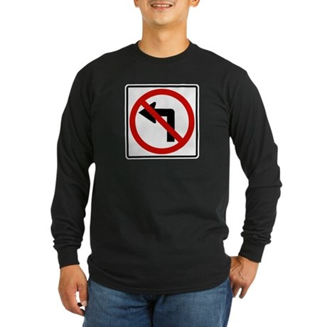 No Left Long Sleeve Dark T-Shirt