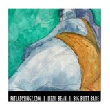 Fat Lady Art Tile Coaster