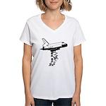 NASA Preemptive Strike Women's V-Neck T-Shirt