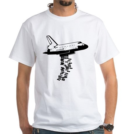 NASA Preemptive Strike White T-Shirt