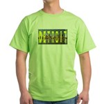 DETROIT SLYLINE (YELLOW LETTERS)Green T-Shirt
