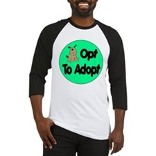 Opt to Adopt Doggie Baseball Jersey