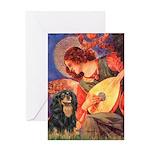 Angel (3) & Cavalier (BT) Greeting Card
