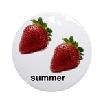 SUMMER STRABERRY Ornament (Round)