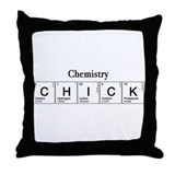 Chemistry Chick Throw Pillow