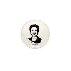 Hillary Clinton Face Mini Button (10 pack)
