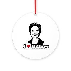 I Love Hillary Ornament (Round)