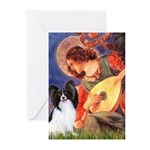 Mandolin Angel & Papillon Greeting Cards (Pk of 20