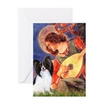 Mandolin Angel & Papillon Greeting Card