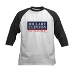 Hillary Clinton for President Kids Baseball Jersey