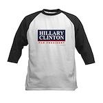 Hillary Clinton for President Kids Baseball Jersey