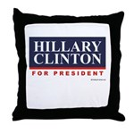 Hillary Clinton for President Throw Pillow