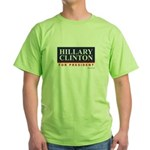 Hillary Clinton for President Green T-Shirt