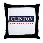 Clinton for President Throw Pillow