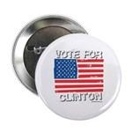 Vote for Clinton Button
