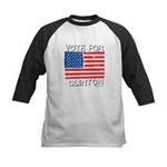 Vote for Clinton Kids Baseball Jersey