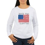 Vote for Clinton Women's Long Sleeve T-Shirt