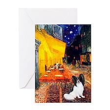Cafe & Papillon Greeting Card
