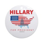 Hillary for President Ornament (Round)