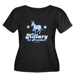 Hillary for President Women's Plus Size Scoop Neck