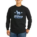Hillary for President Long Sleeve Dark T-Shirt