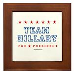 Team Hillary  Framed Tile