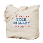 Team Hillary  Tote Bag