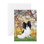 Spring & Papillon Greeting Card