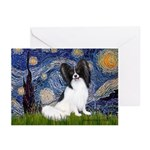 Starry Night Papillon Greeting Cards (Pk of 20)