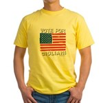 Vote for Giuliani Yellow T-Shirt