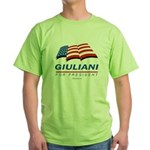 Giuliani for President Green T-Shirt