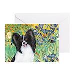 Irises & Papillon Greeting Cards (Pk of 20)