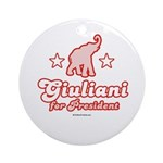 Giuliani for President Ornament (Round)