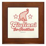 Giuliani for President Framed Tile