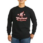 Giuliani for President Long Sleeve Dark T-Shirt